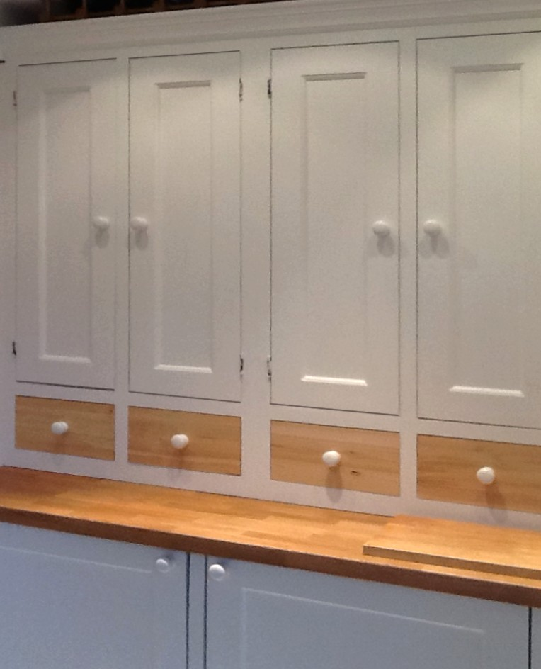 painted kitchen wall units