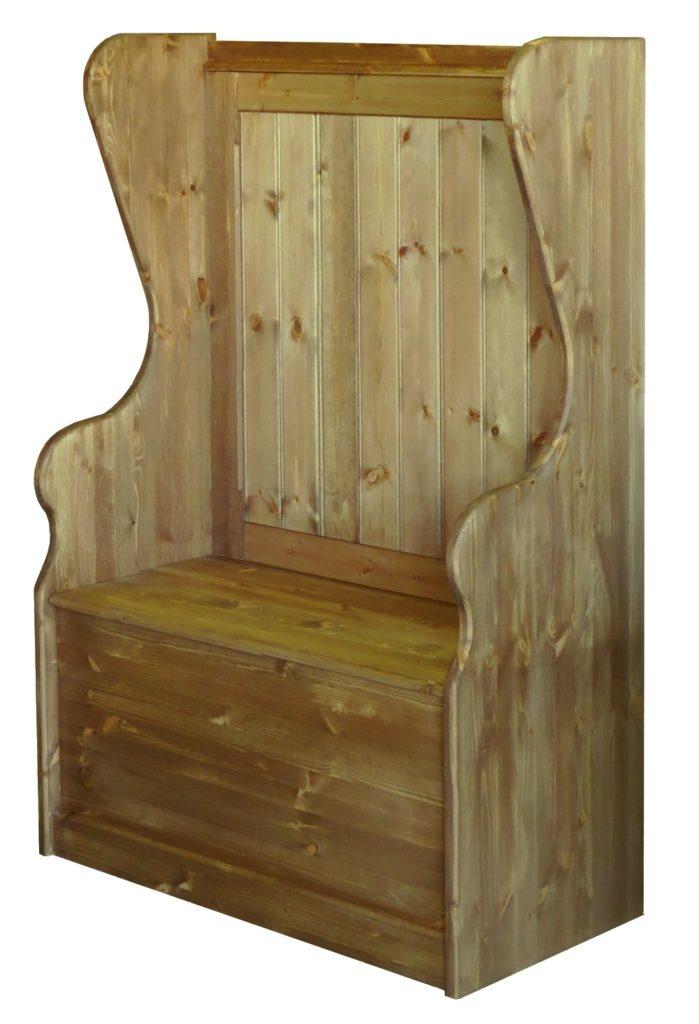 A pine settle / monks bench
