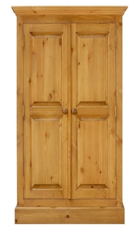 a full hanging pine wardrobe which is 36 inches long