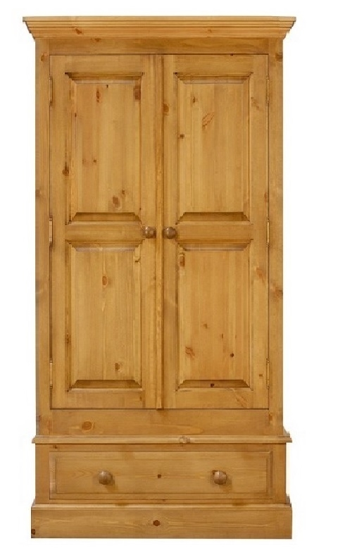 a pine wardrobe on a single drawer  which is 36 inches long