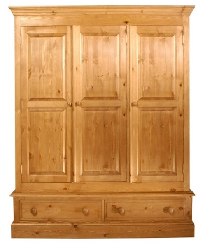 a pine wardrobe on two drawers  which is 60 inches long
