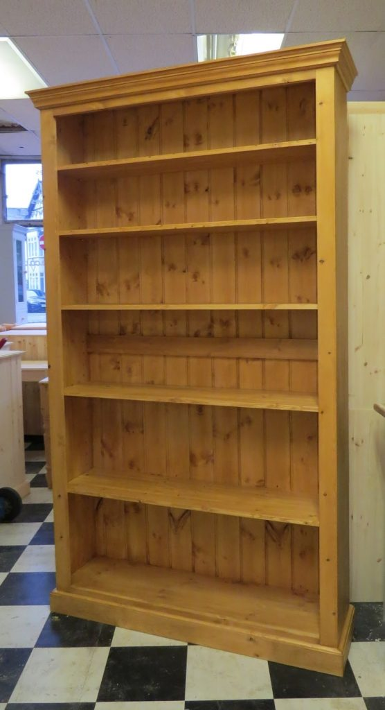 a 48 inch long 6 foot high pine bookcase