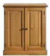 a pine cupboard