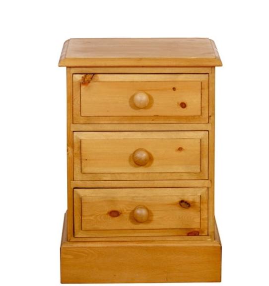 a pine bedside cabinet