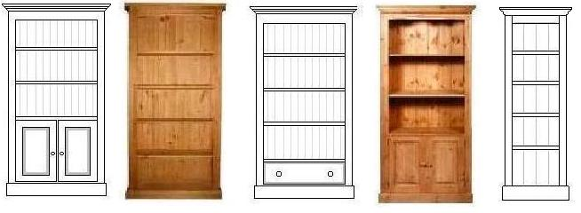 pictures of pine bookcases