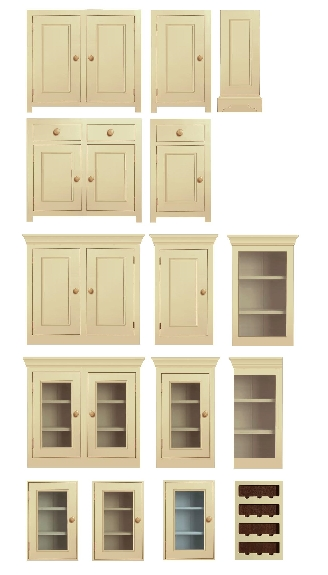 a gallery of made to measure pine kitchen units