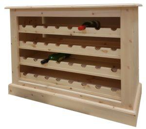 large kitchen pine winerack