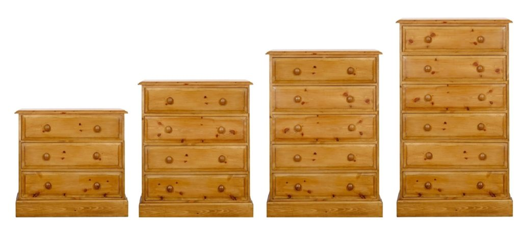 "30"" long pine chests of drawers by Pegasus pine, Northampton"