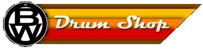 BW drum shop, Kettering road, Northampton, logo